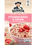 Quaker Instant Oatmeal Strawberries and Cream
