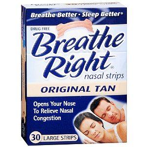 Breathe Right Nasal Strips Vapor 28 ct (S/M)