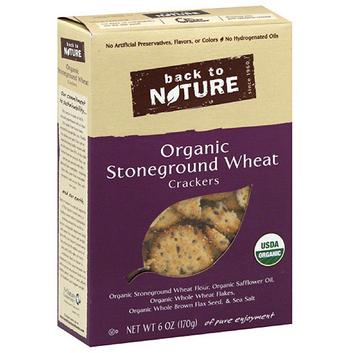 Back to Nature Organic Stone-Ground Wheat Crackers