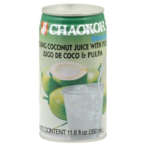 Chaokoh Coconut Juice with Jelly, 11.8-Ounce (Pack of 24)