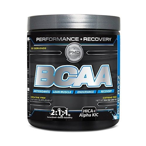 NDS Nutrition - PMD Platinum BCAA Powder Performance Recovery Caffeine Free Blue Razz - 9.4 oz.
