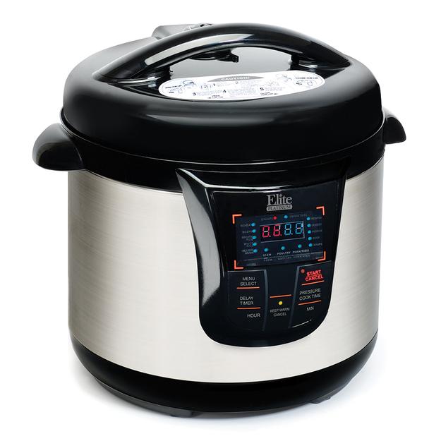 Elite Platinum 8qt 13 Function Pressure Cooker Black