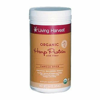 Living Harvest Organic Hemp Protein Powder Vanilla Spice 16 oz
