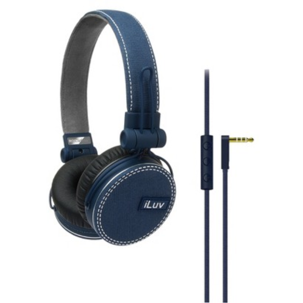 iLuv ReF Deep Bass Canvas On-Ear Headphones - Blue
