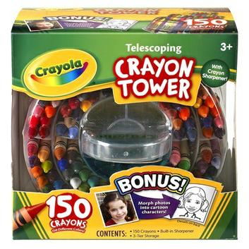 Crayola 150-Count Telescoping Crayon Tower