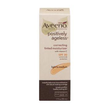 Aveeno®  Active Naturals Positively Ageless Correcting Tinted Moisturizer Light to Medium