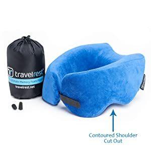 Travelrest Ultimate Memory Foam Travel Pillow/Neck Pillow