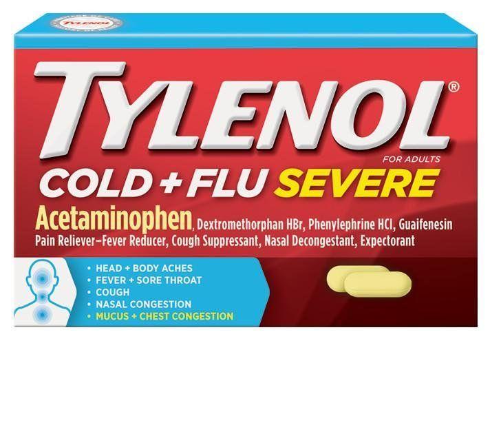 Tylenol® Cold + Flu Severe Medicine for Relief of Cold, Flu, Fever, Cough & Congestion Symptoms