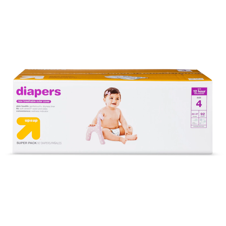 up&up™ size 4 baby diapers