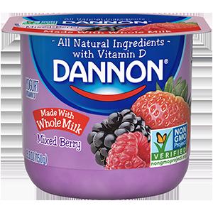Dannon® Whole Milk Yogurt Mixed Berry