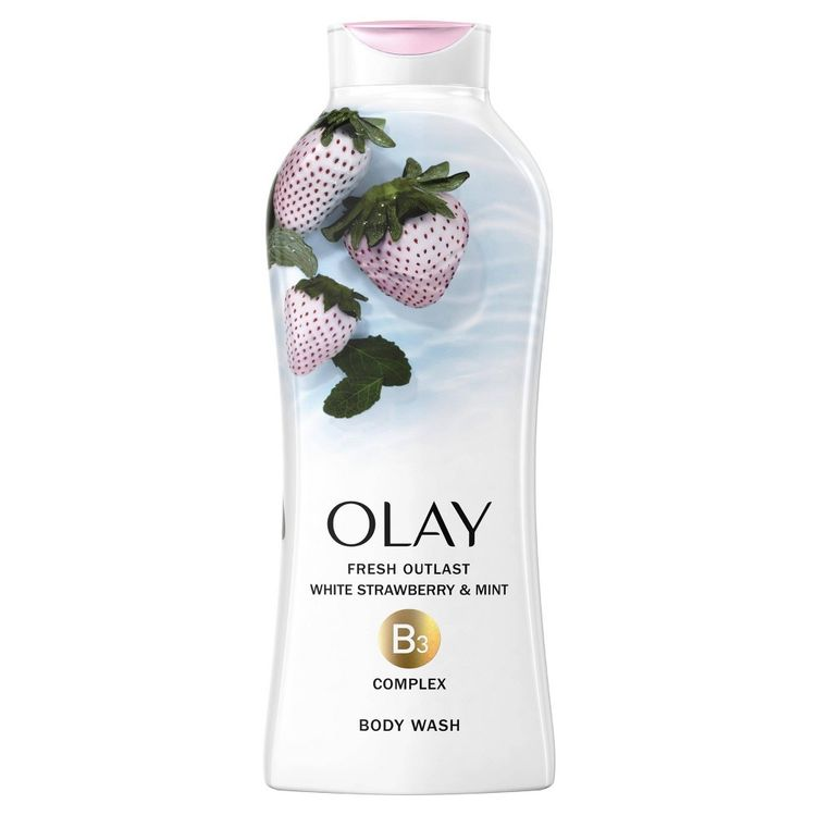 Olay Fresh Outlast   Body Wash   Cooling White Strawberry & Mint