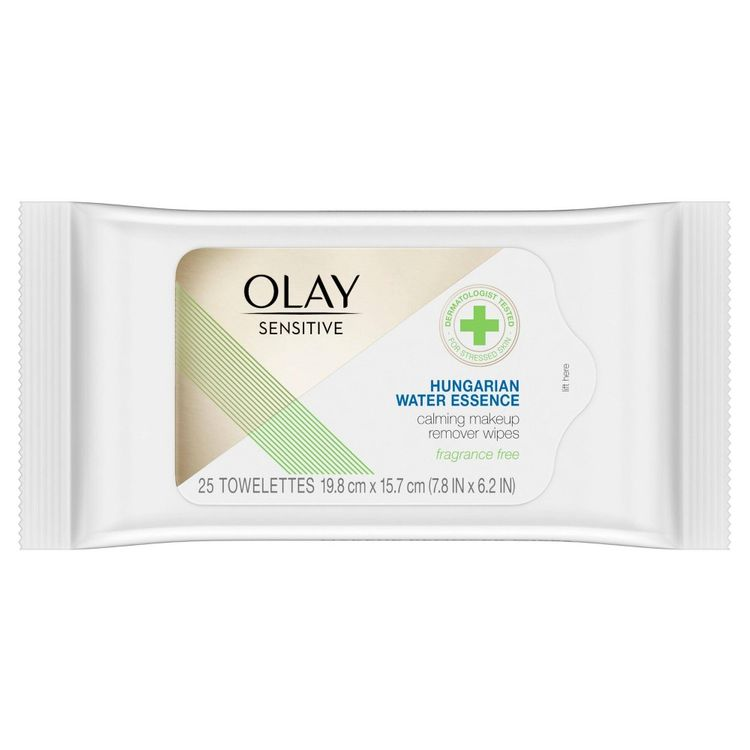 Olay Sensitive | Makeup Remover Wipes | Hungarian Water Essence