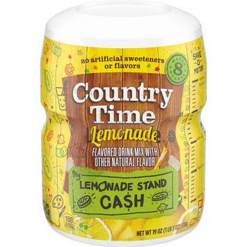 Country Time Lemonade Powder flavored Drink Mix with other natural flavors, 19 oz Container