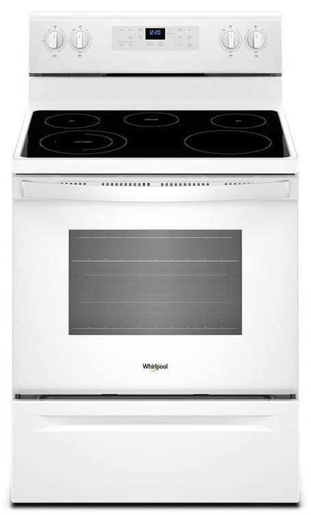 Whirlpool® Freestanding Electric Range with Adjustable Self-Cleaning 5.3 cu. ft.
