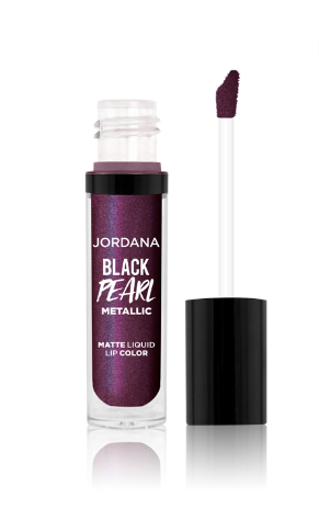JORDANA Black Pearl Metallic Matte Liquid Lip Color