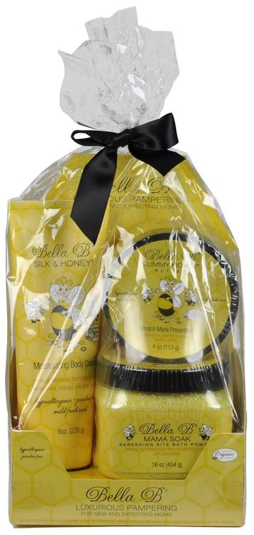 Bella B Pregnancy & Beyond Gift Set - 3 Pc - Tummy Honey Butter, Silk & Honey Cream, Mama Bath Soak