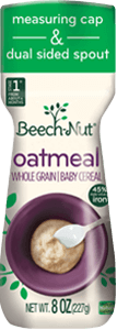 Beech-Nut oatmeal cereal canister