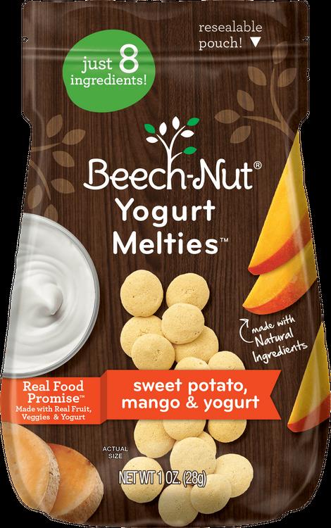 Beech-Nut sweet potato, mango & yogurt melties™