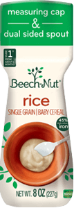 Beech-Nut rice cereal canister