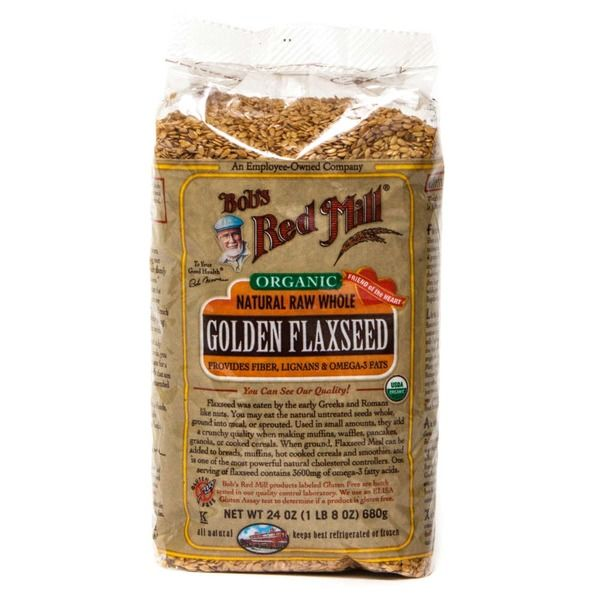 Bob's Red Mill Organic Natural Raw Whole Golden Flaxseeds