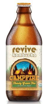 revive kombucha Campfire Genmaicha Brew