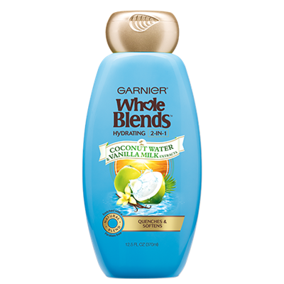 Garnier Whole Blends Coconut Water & Vanilla Milk Extracts Hydrating 2-in-1 Shampoo & Conditioner