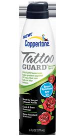 Coppertone® Tattoo GUARD® Continuous Spray SPF 50 Sunscreen