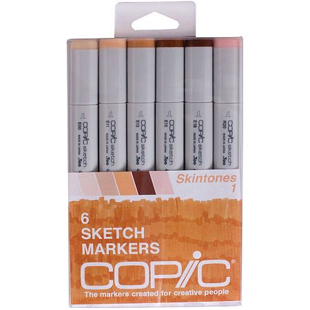 Asstd National Brand Copic Sketch Markers - Skin Tones 1