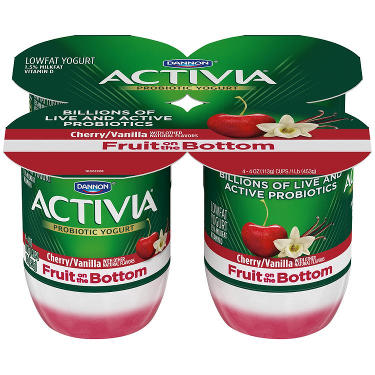 Activia® Fruit Fusion Cherry & Vanilla Yogurt 4-4 oz. Cups