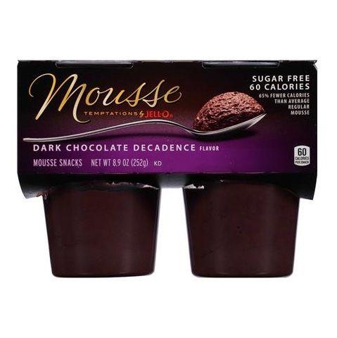 JELL-O Mousse Temptation Dark Chocolate Decadence Mousse Snacks
