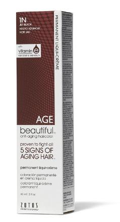 AGEbeautiful 1N Jet Black Permanent Liqui-Creme Hair Color