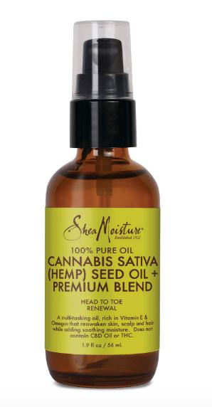 SheaMoisture 100% Pure Oil Cannabis Sativa (Hemp) Seed Oil + Premium Blend Oil