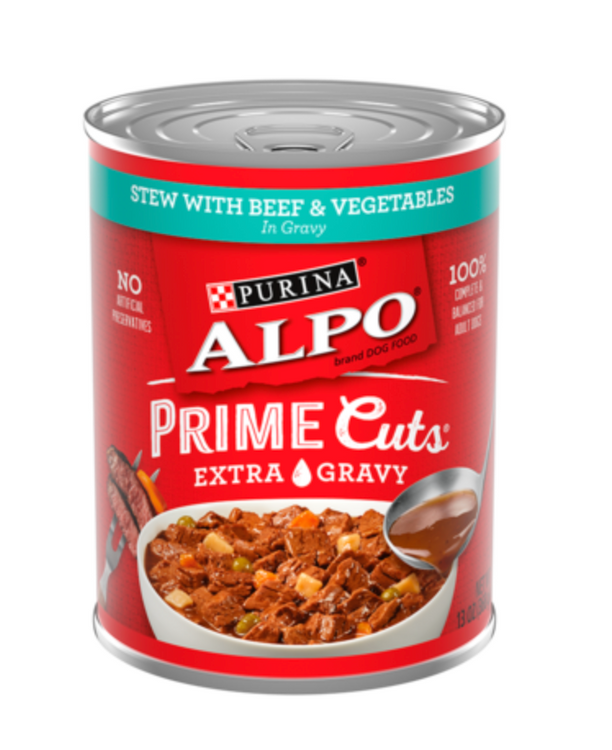 Alpo Prime Cuts Stew with Beef & Vegetables in Gravy Wet Dog Food