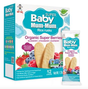 Baby Mum-Mum Organic Super Berries Rice Rusks