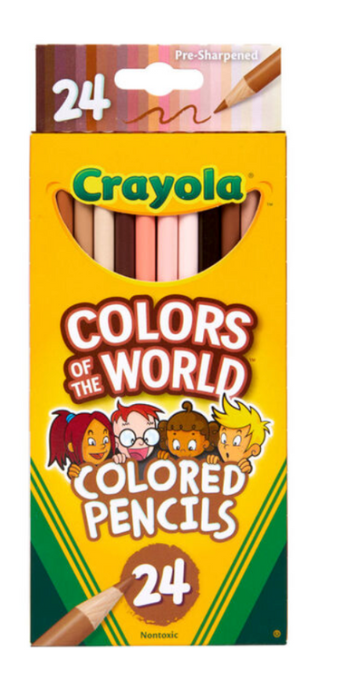 Crayola Colors of the World Skin Tone Colored Pencils, 24 Count