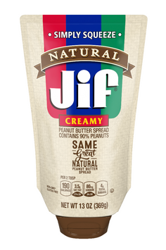 JIF Natural Squeeze Creamy Peanut Butter