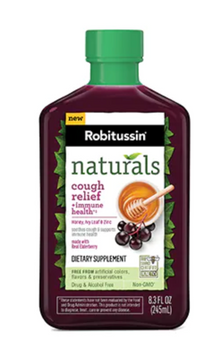 Robitussin Naturals Cough Relief + Immune Health††* Dietary Supplement