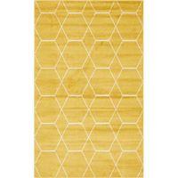 Mercury Row Elborough Geometric Yellow Rug