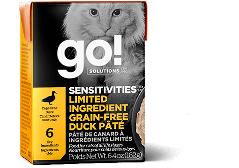 Petcurean Go! Solutions Sensitivities Limited Ingredient Grain Free Duck Pate for Cats