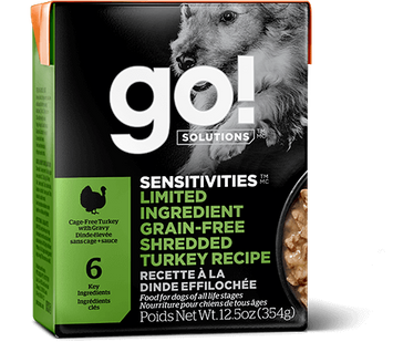 Petcurean Go! Solutions Sensitivities Limited Ingredient Grain Free Shredded Turkey for Dogs
