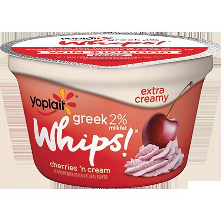Yoplait® Greek 2% Whips!® Cherries 'n Cream Lowfat Yogurt Mousse