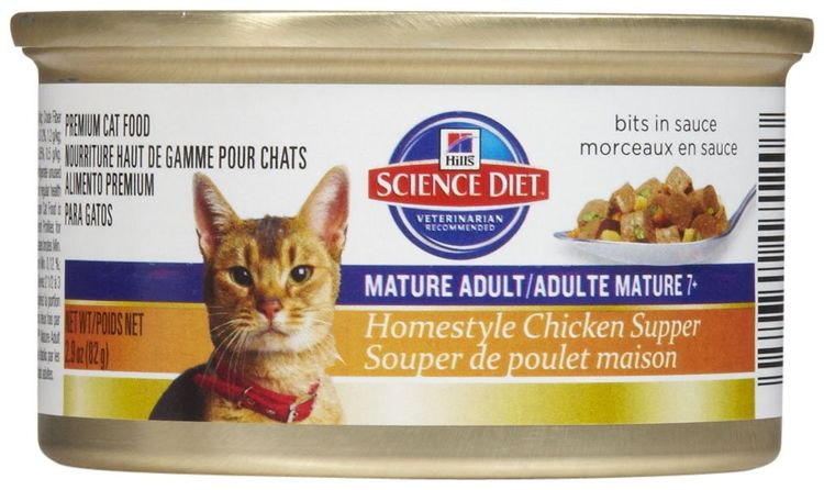 Hills Science Diet Homestyle Chicken Mature Can Cat Food