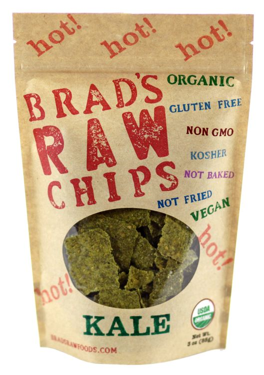 Brad's Raw Chips Hot Kale