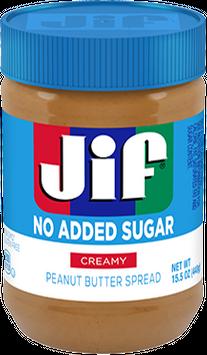 JIF No Added Sugar Creamy Peanut Butter Spread