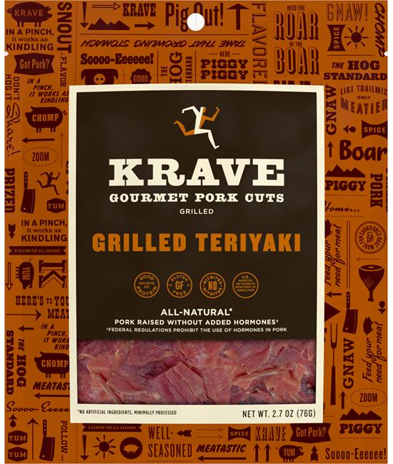 KRAVE Gourmet Pork Cuts - Grilled Sweet Teriyaki