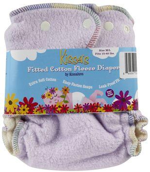 Kissa's By Kissaluvs Kissa's Cotton Fleece Fitted Diaper - Berry Purple
