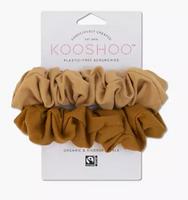 KOOSHOO™ Two-Pack Organic Cotton Scrunchies