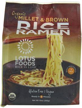 Lotus Foods Organic Rice Ramen Noodles Millet & Brown 10 oz - Vegan