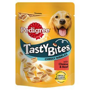 Pedigree® Tasty Bites Dog Treats Cheesy Nibbles With Cheese And Beef