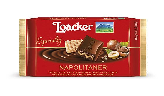 Loacker Chocolate Specialty Napolitaner Chocolate Wafer